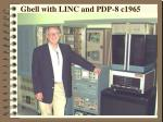 gbell with linc and pdp 8 c1965