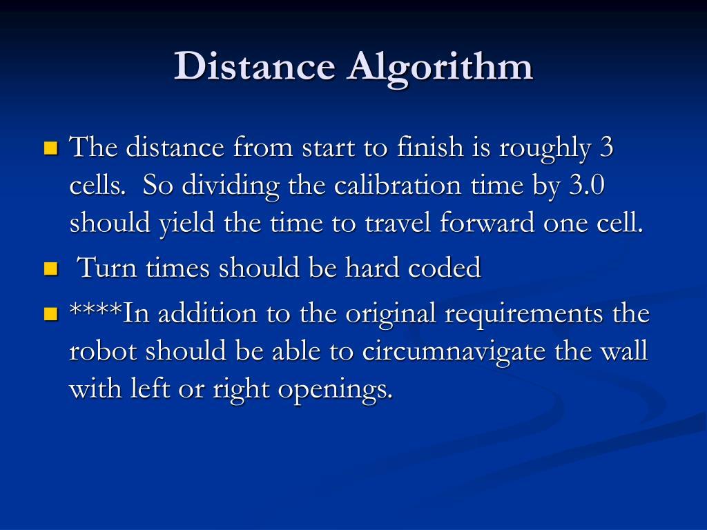 Distance Algorithm