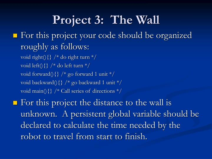 Project 3 the wall3