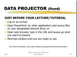 data projector fixed19