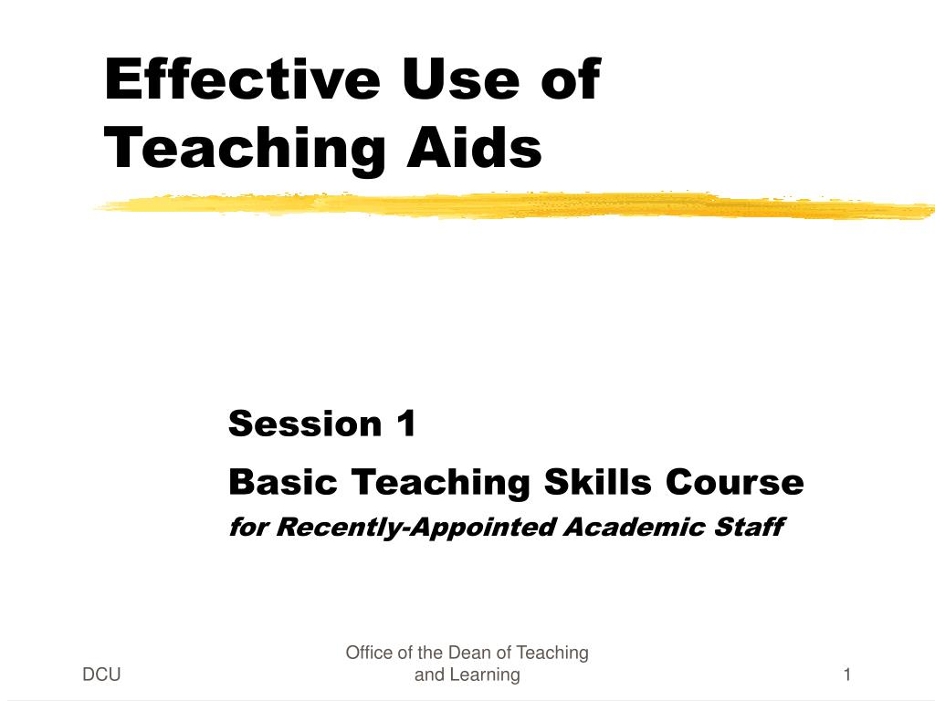 effective use of teaching aids l.
