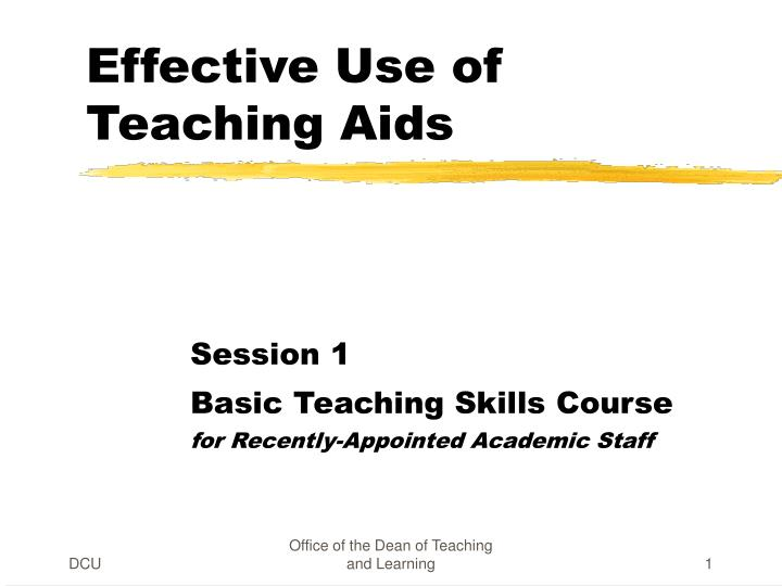 effective use of teaching aids n.