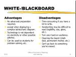 white blackboard