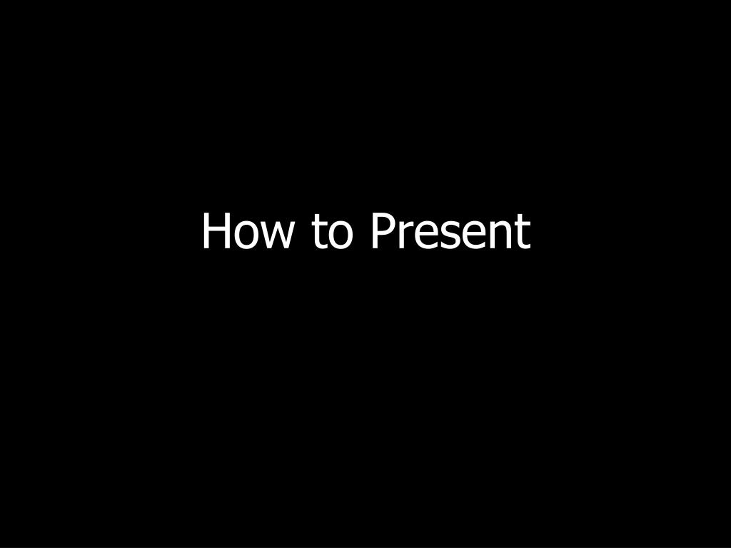 how to present l.