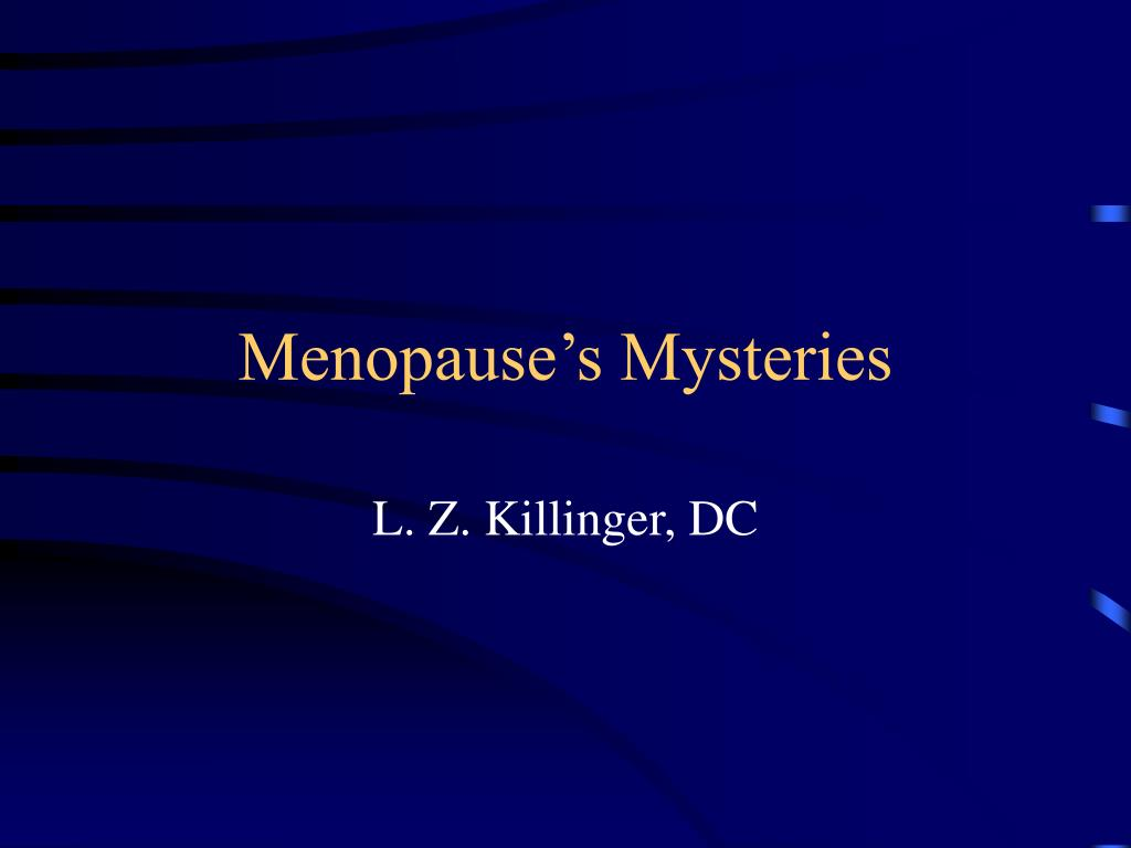 menopause s mysteries l.