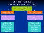 theories of coping problem emotion focused