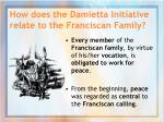 how does the damietta initiative relate to the franciscan family