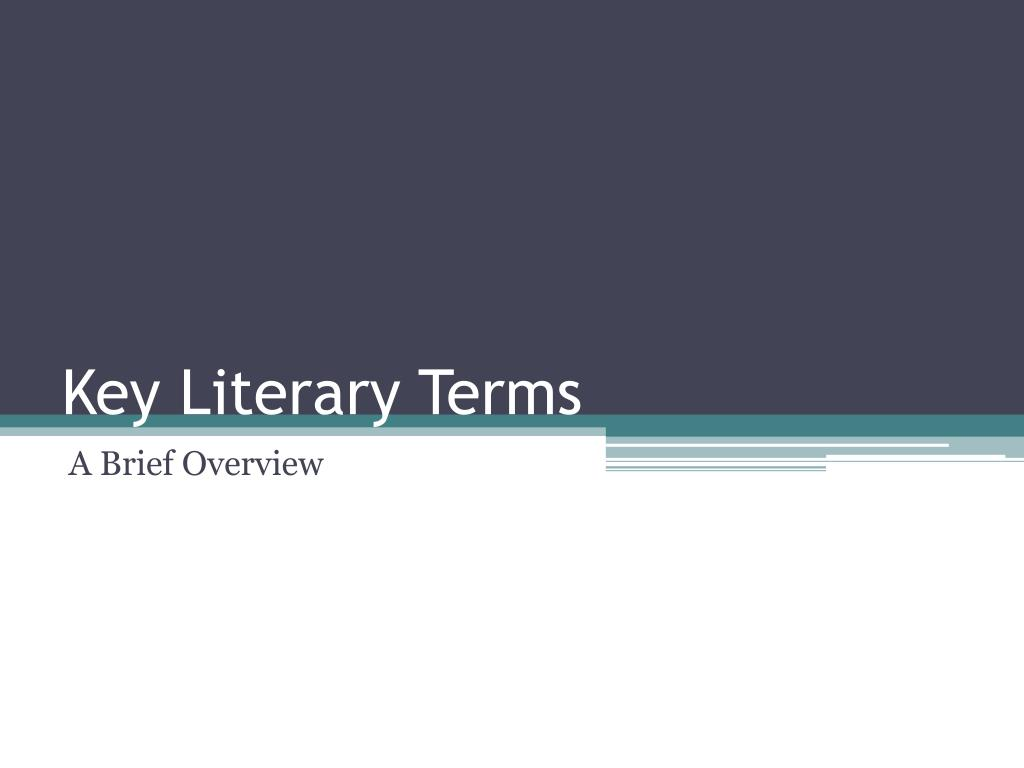 key literary terms l.
