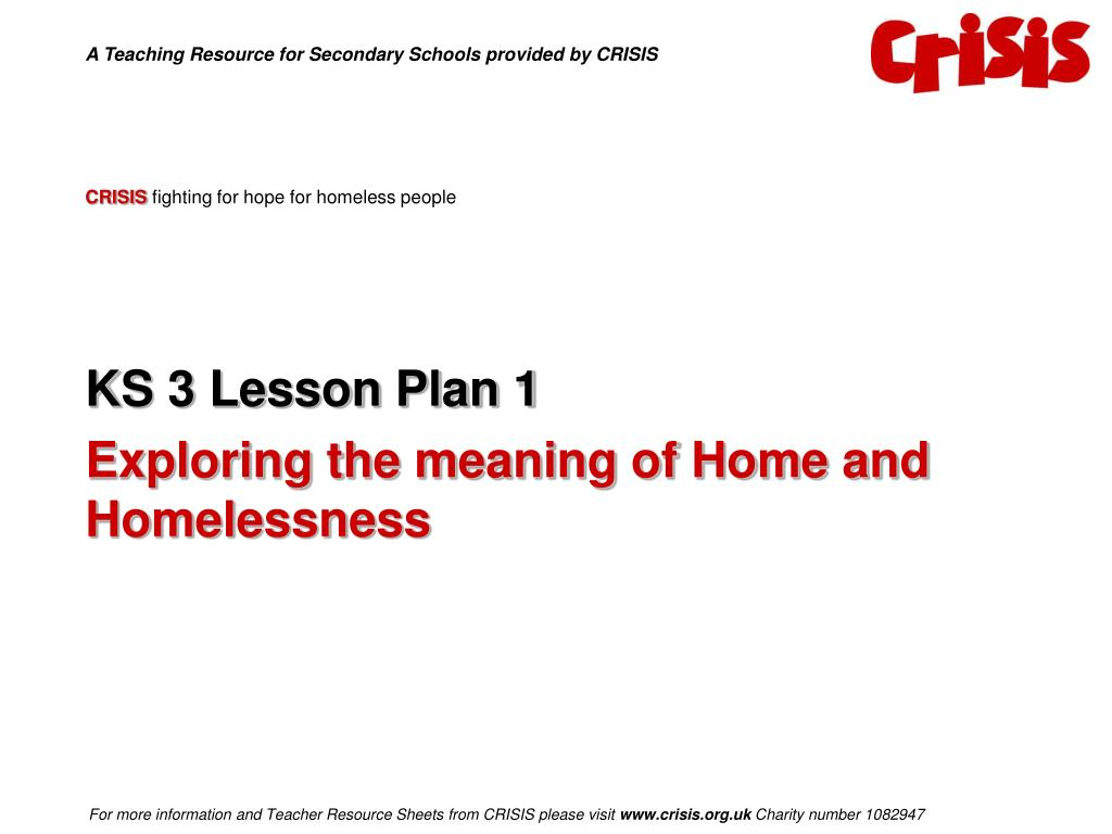 crisis fighting for hope for homeless people l.