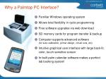 why a palmtop pc interface