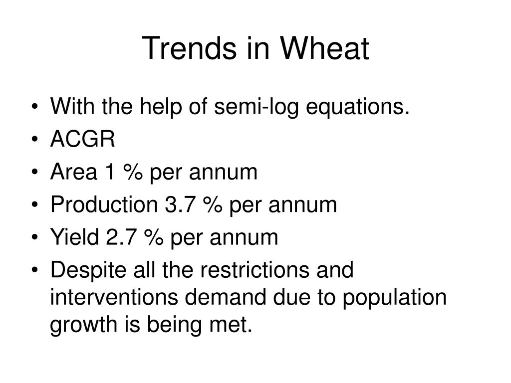 Trends in Wheat