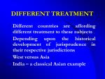 different treatment