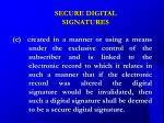 secure digital signatures21
