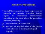 security procedure22