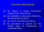security procedure23