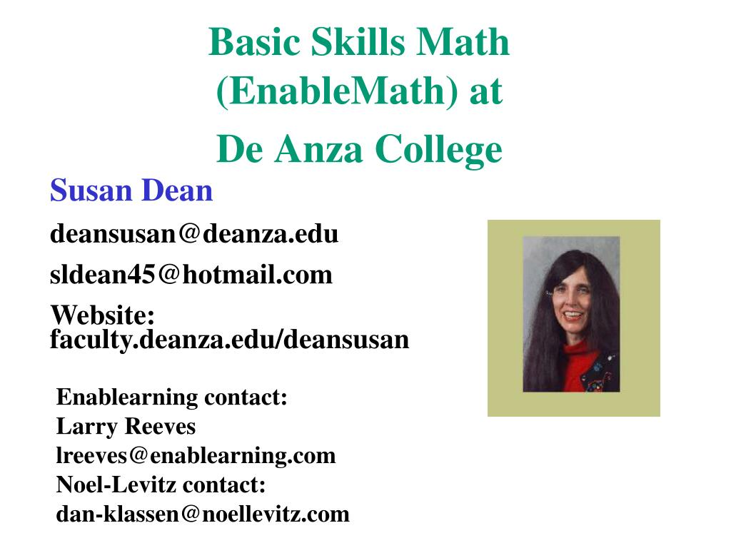 basic skills math enablemath at de anza college l.