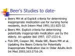 beer s studies to date