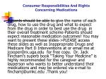 consumer responsibilities and rights concerning medications