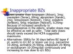 inappropriate bzs38