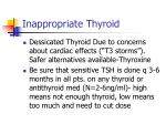 inappropriate thyroid