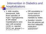 intervention in diabetics and hospitalizations