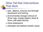 other fall risk interventions that work