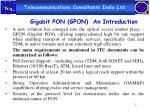 gigabit pon gpon an introduction