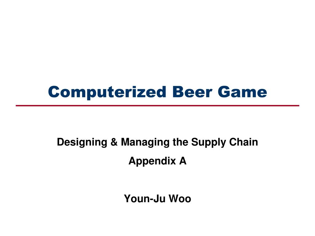computerized beer game l.