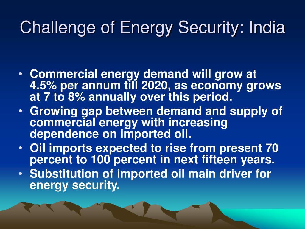 Challenge of Energy Security: India