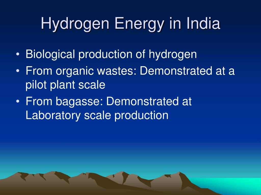 Hydrogen Energy in India