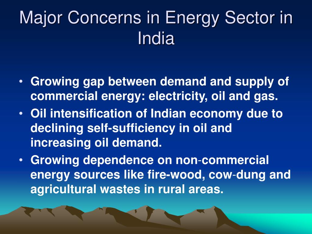 Major Concerns in Energy Sector in India