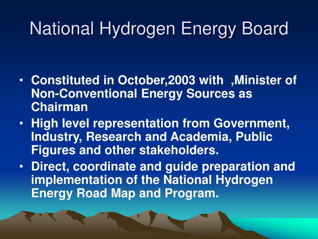 National Hydrogen Energy Board