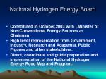 national hydrogen energy board