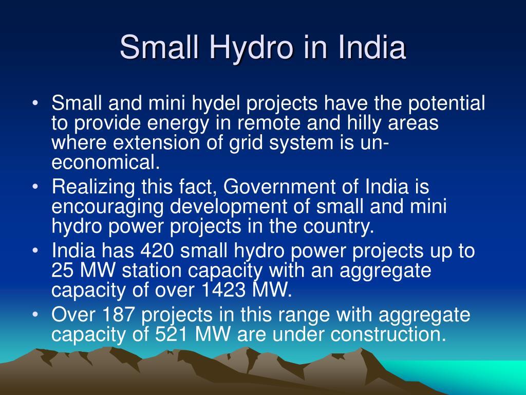 Small Hydro in India