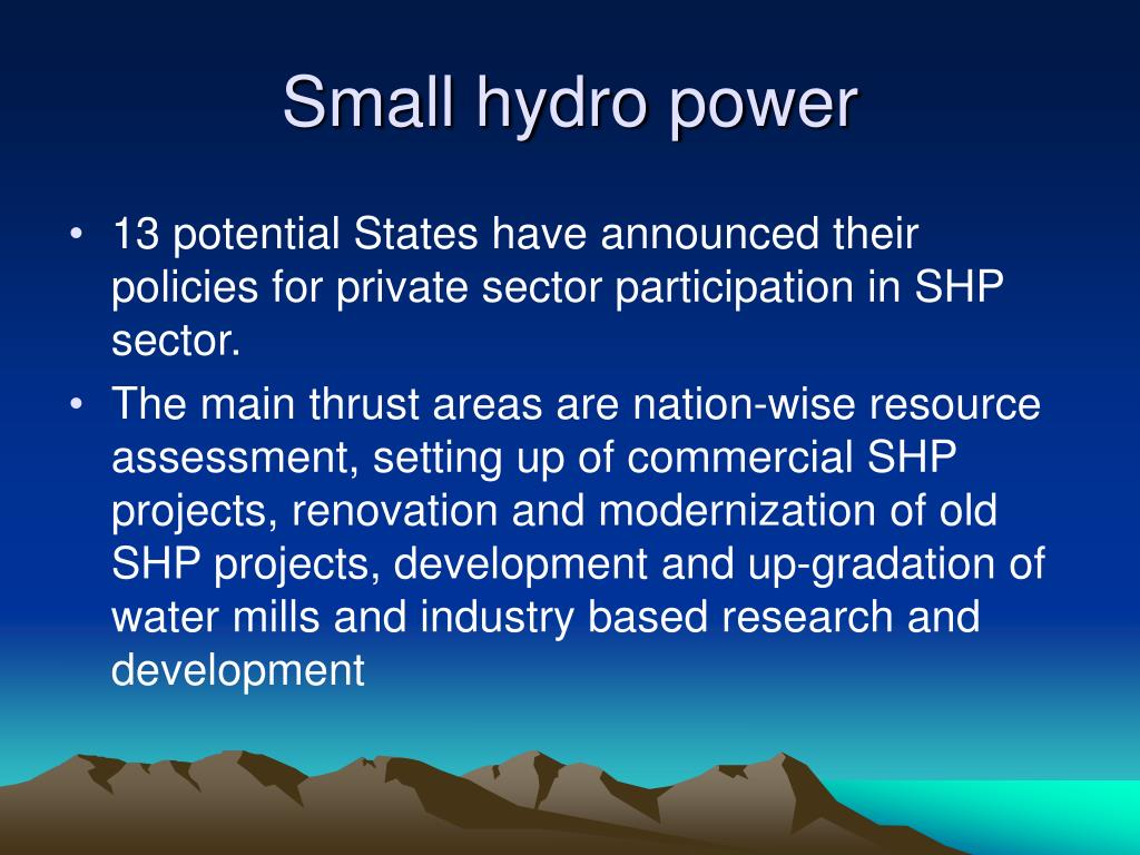 Small hydro power