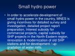 small hydro power30