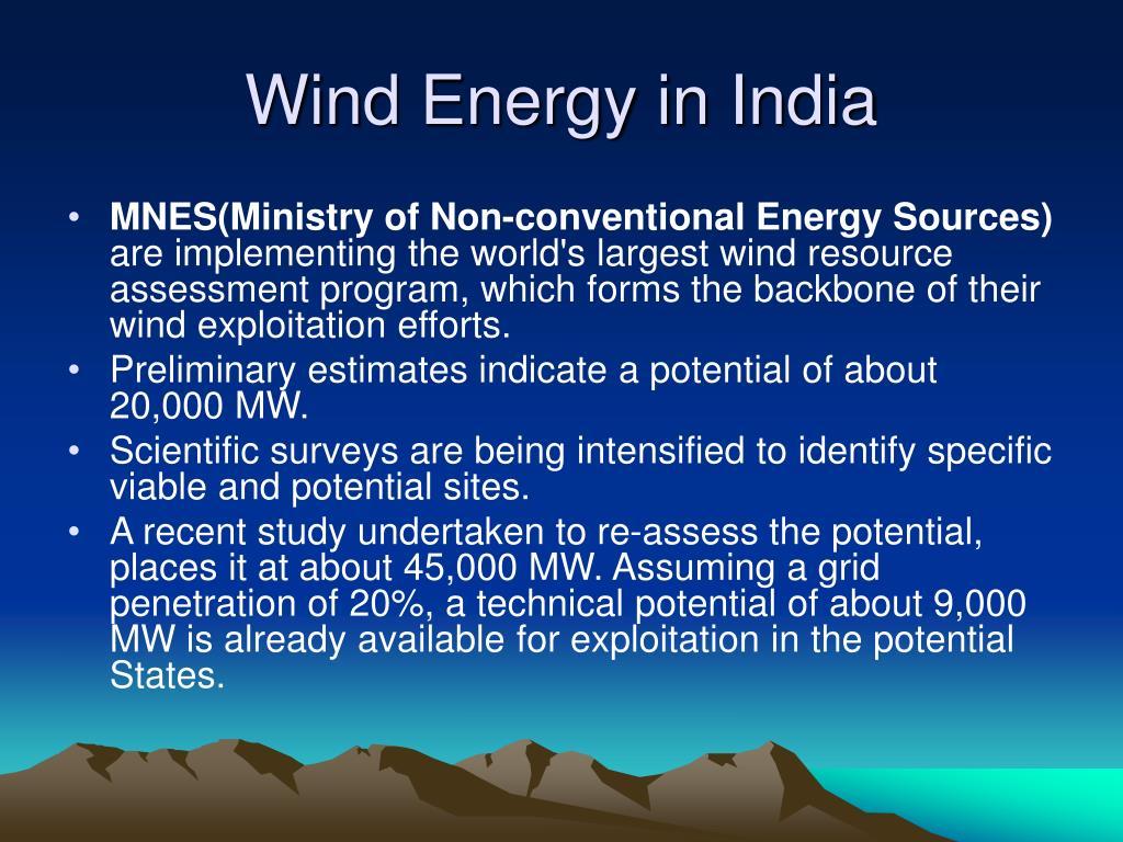 Wind Energy in India