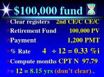 100 000 fund