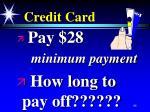 credit card85