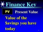 finance key