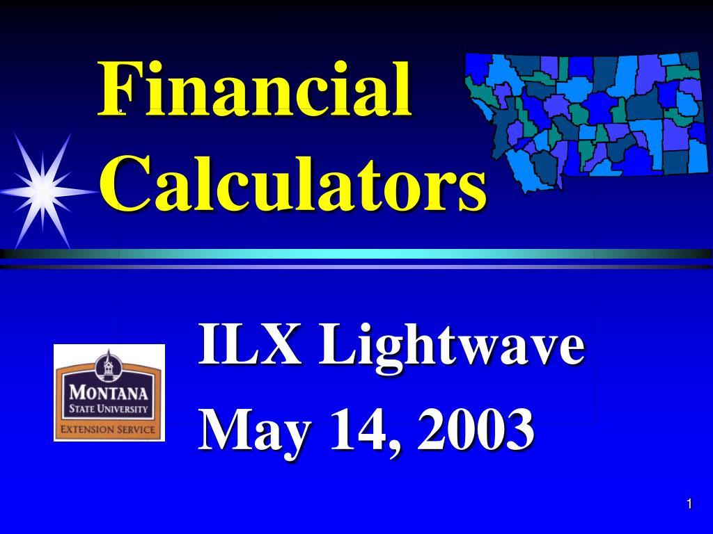 financial calculators l.