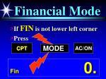 financial mode
