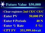 future value 50 000