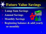 future value savings