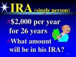 ira single person