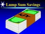 lump sum savings