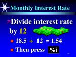 monthly interest rate