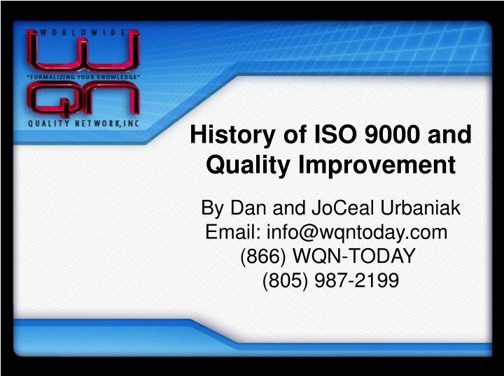 history of iso 9000 and quality improvement n.