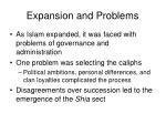 expansion and problems26