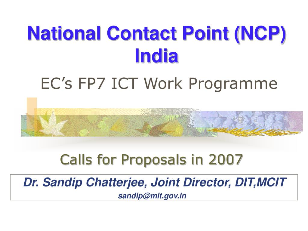 national contact point ncp india l.